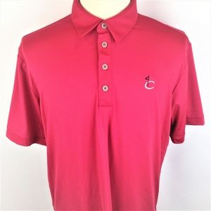 Adidas Mens Red Climalite Polo Golf Shirt Large